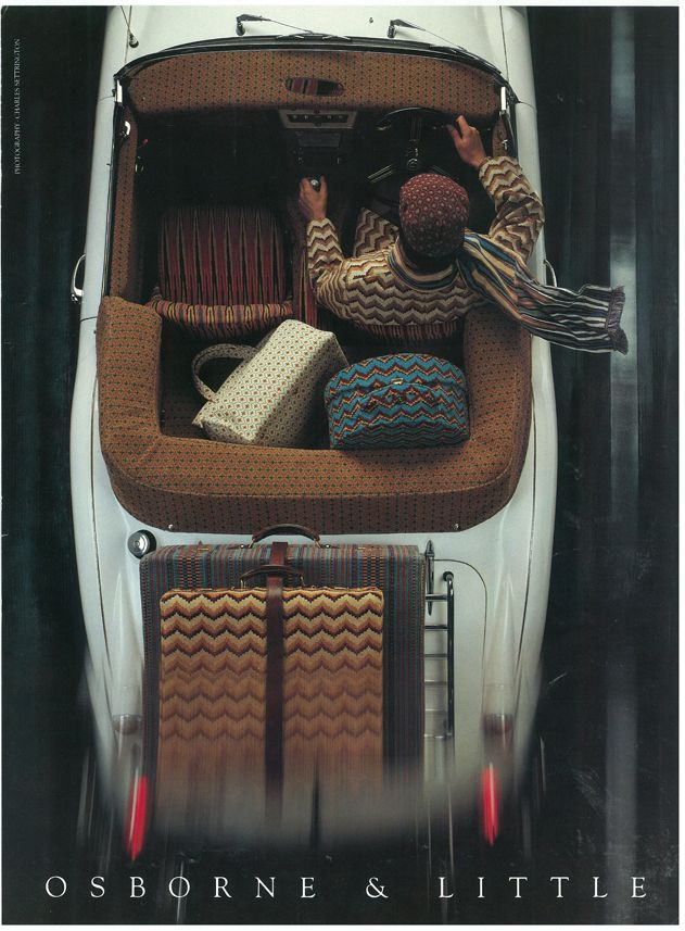 The Osborne & Little Ad image for the TAPESTRY collection which appeared in the first ever edition of Elle Decoration UK in 1989