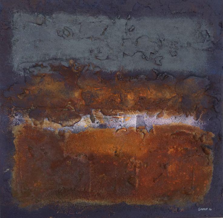 ryo (2016) 25x25cm mixed media on canvas daniel soukup