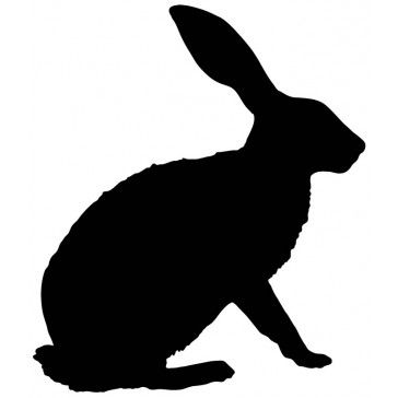 Rabbit Silhouette Bunny Outline Farmyard Animals Wall Sticker Wall Art Decal (Down Cellar: Follow the White Rabbit)
