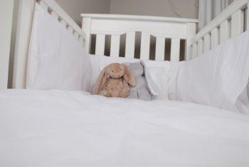 Tom & Bella Pure White Cotton percale cot linen