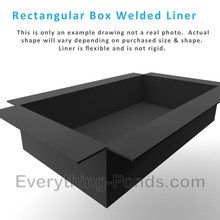 Rectangular box welded pond liner insert flexible 20 for Koi pond insert