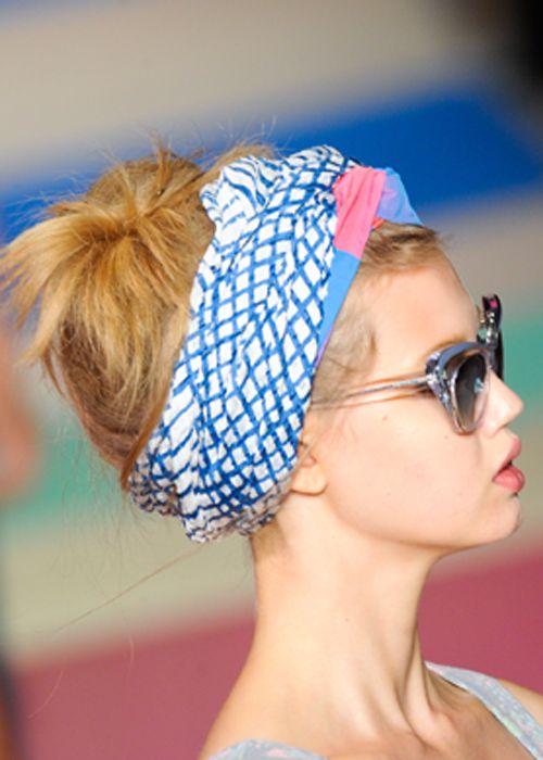 ++ Tücher ++ Turban, Haarband und Kopftücher sind Modetrend 2013 ++ Hier finden Sie Anleitungen für Wickeltechniken mit Tüchern und für Frisurentrends 2013
