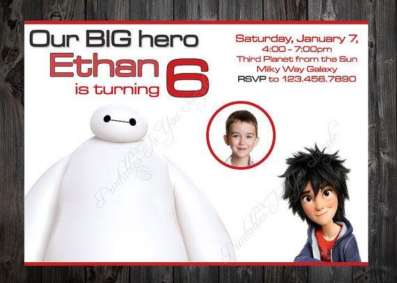 Big hero 6 birthday invite invitation party by PrintablesToYou