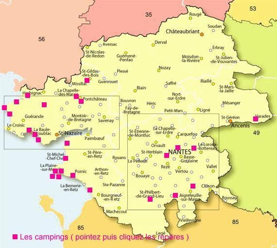 Disponibilités et réservation vacances camping Loire-Atlantique (44)