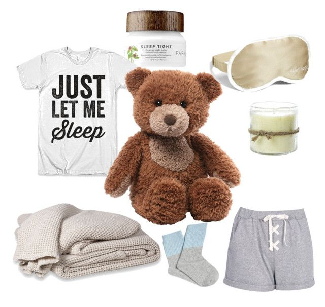 """""""let's get some sleep."""" by meytaastuti on Polyvore featuring Gund, Baksana, Iluminage and Himalayan Trading Post"""