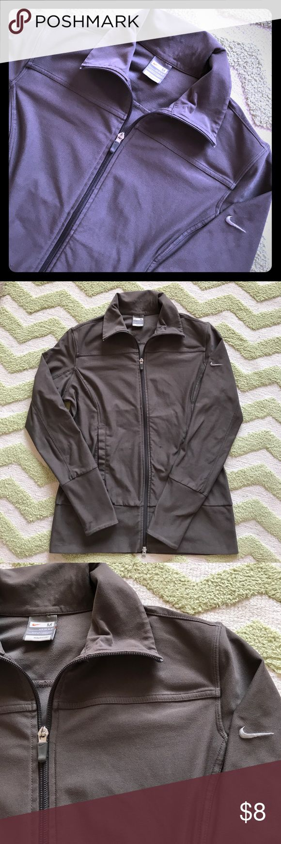 Nike Fit Dry Full Zip Jacket Medium Smoke-free, pet-free home. Has a couple of snags in fabric (pictured). Nike Tops Sweatshirts & Hoodies
