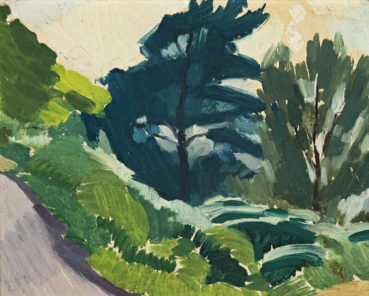 Roland Wakelin 'Tree Study', c1925 18.0 x 23.0 cm oil on board