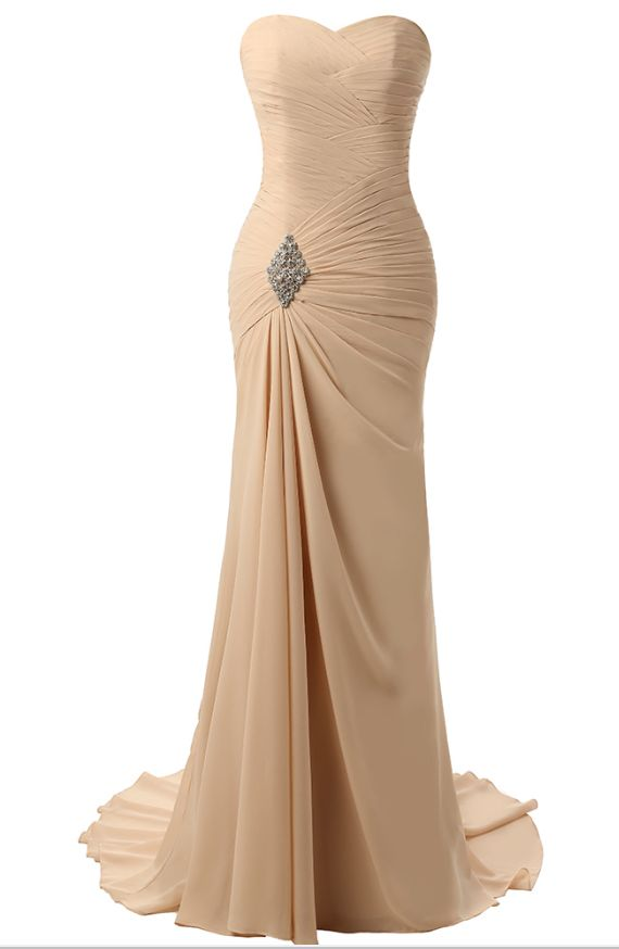 The little mermaid evening gown, formal evening gown with no sleeves