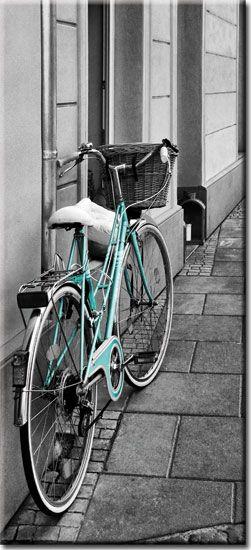 Fotonaklejka z rowerem