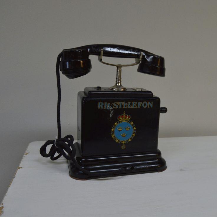 Charmig gammal Rikstelefon