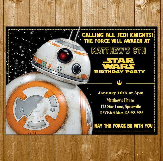Best Birthday Boy Ideas Images On Pinterest Star Wars Party - Star wars birthday invitation maker