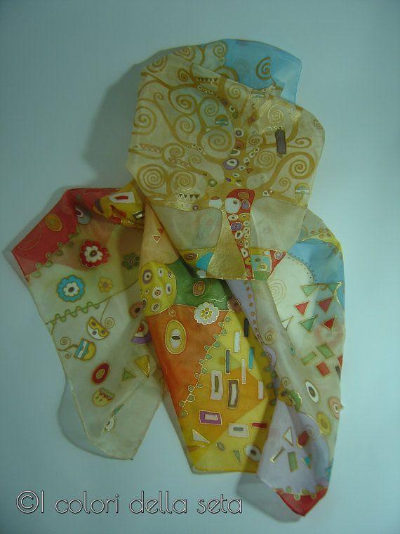 Sciarpa Klimt di Adele Daniele su Etsy
