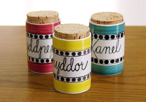 Rorstrand Arom herb and spice canisters.