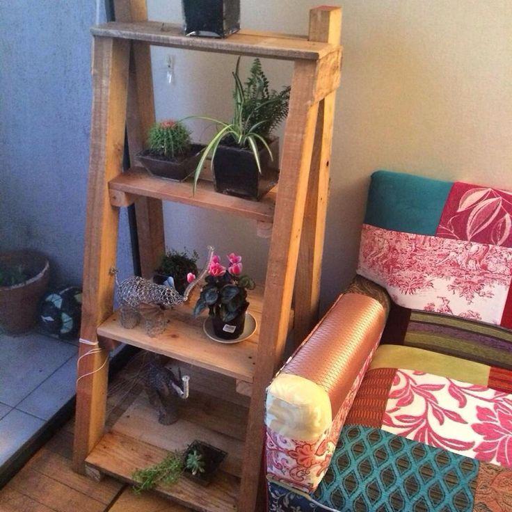 Repisa con madera reciclada Pallets ♻️