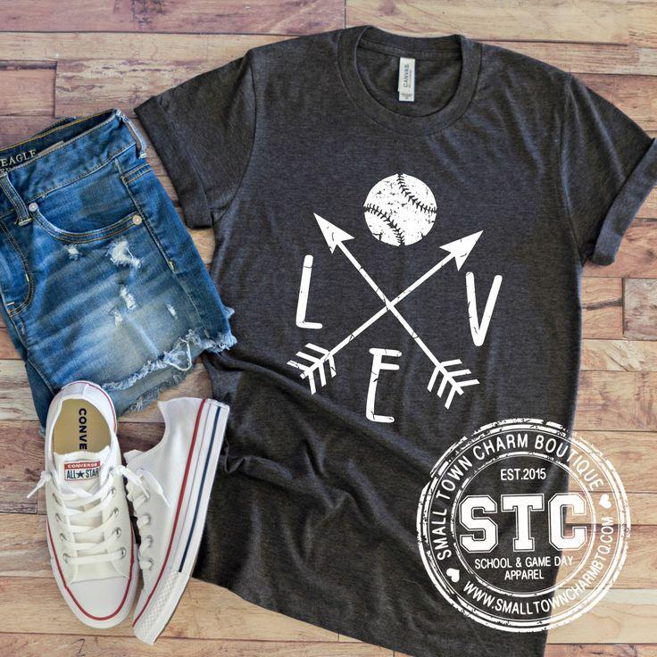 Love Baseball Arrow Woman's Tee / Cute Baseball Softball Shirt / Game Day Shirt / Baseball Shirt / Ball Mom Shirt / T-Ball Shirt / Mom Shirt 5