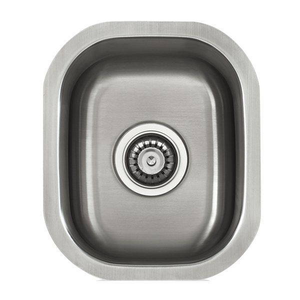 A fine quality sink formed of heavy duty 18 gauge, type 304 nickel bearing stainless steel. The inside bowl surface is polished to a uniform satin finish. On the underside, five high density sound absorption pads covered with a thick rubberized insulation layer on all bottom surfaces.