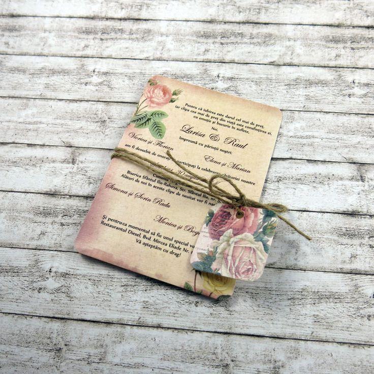 Invitație de nuntă Vintage Postcard http://designbyclarice.ro/