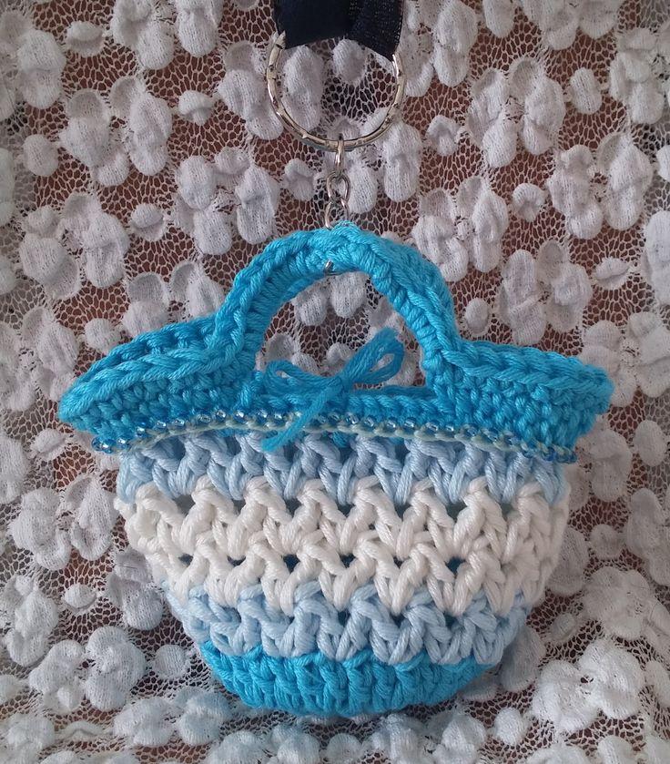 Borsa portachiavi.  Uncinetto. Crochet.
