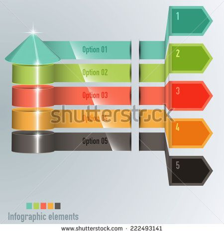 Timeline Pro on a grey background - vector infographic - stock vector