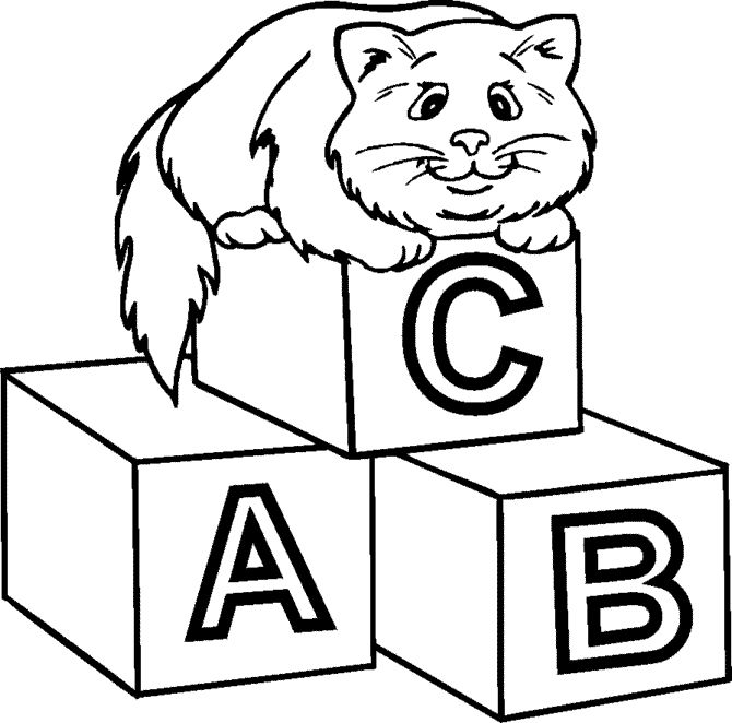 baby abc coloring pages - photo#22