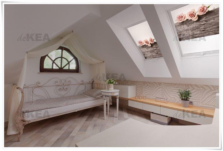 Rolety dachowe deKEA w stylu Vintage. Piekna dekoracja Twojego wnętrza. Setki wzorów do wyboru. Okna Velux, Roto, Fakro, Okpol i innych