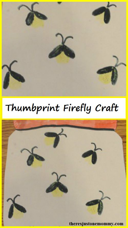 thumbprint craft -- simple firefly craft (lightning bug craft) that is perfect for summer