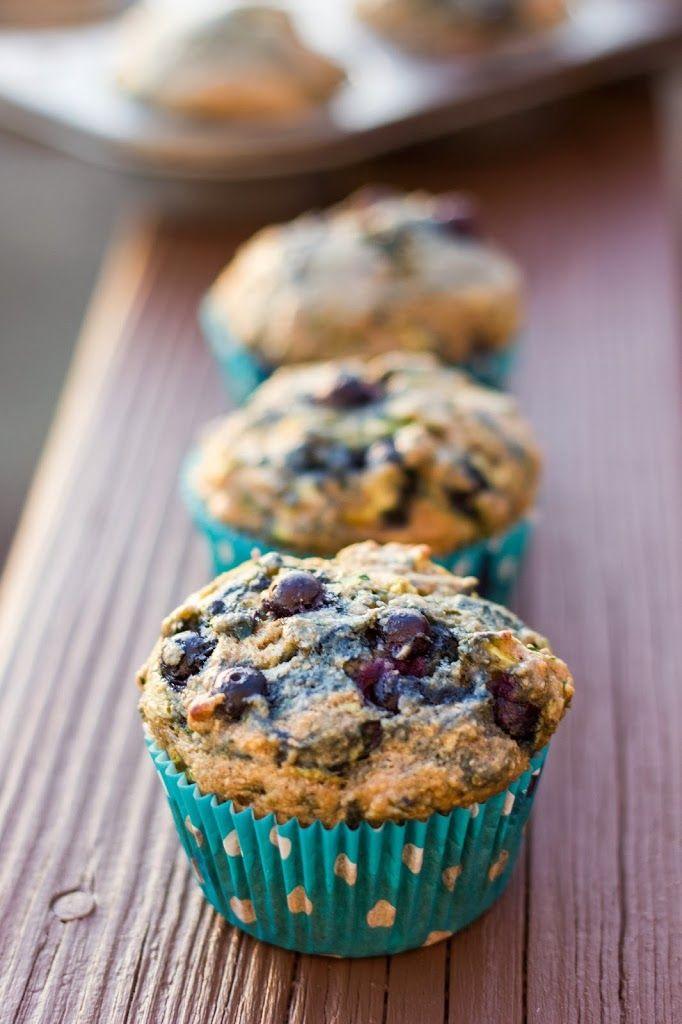 Blueberry Zucchini Muffins : Kendra's Treats