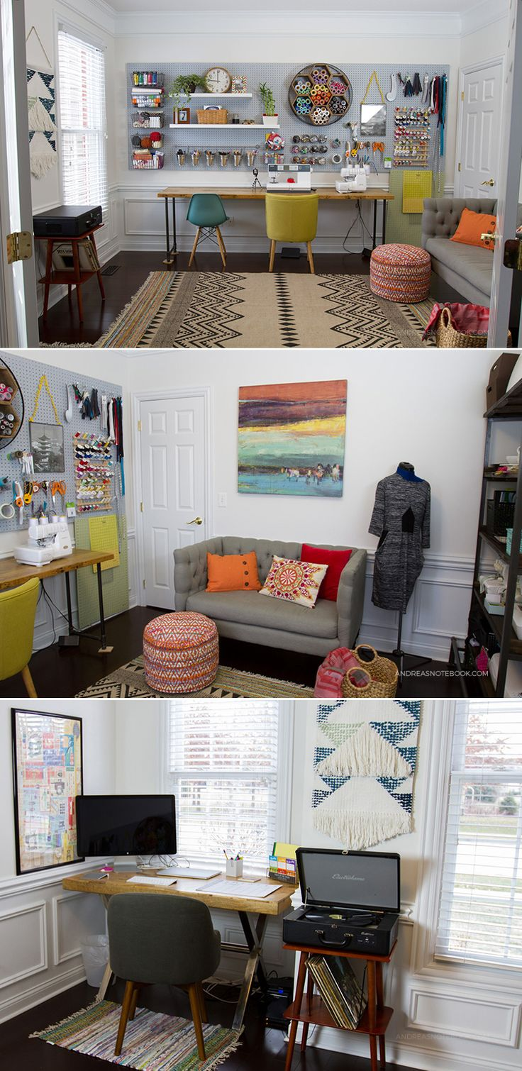 bureau à domicile créative - une salle d'artisanat - salle de couture - AndreasNotebook.com