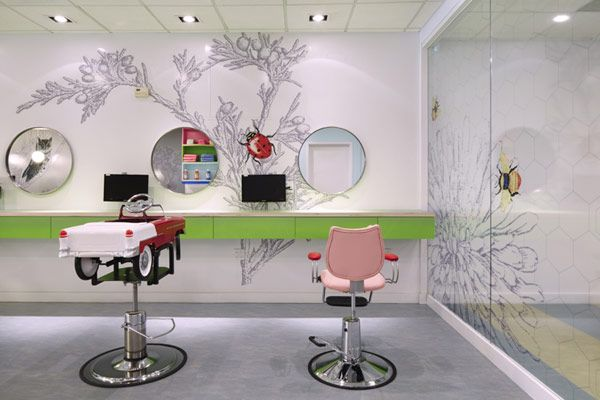 Colorful, Nature-Inspired Hair Salon for Kids in New York - http://freshome.com/2012/02/06/colorful-nature-inspired-hair-salon-for-kids-in-new-york/