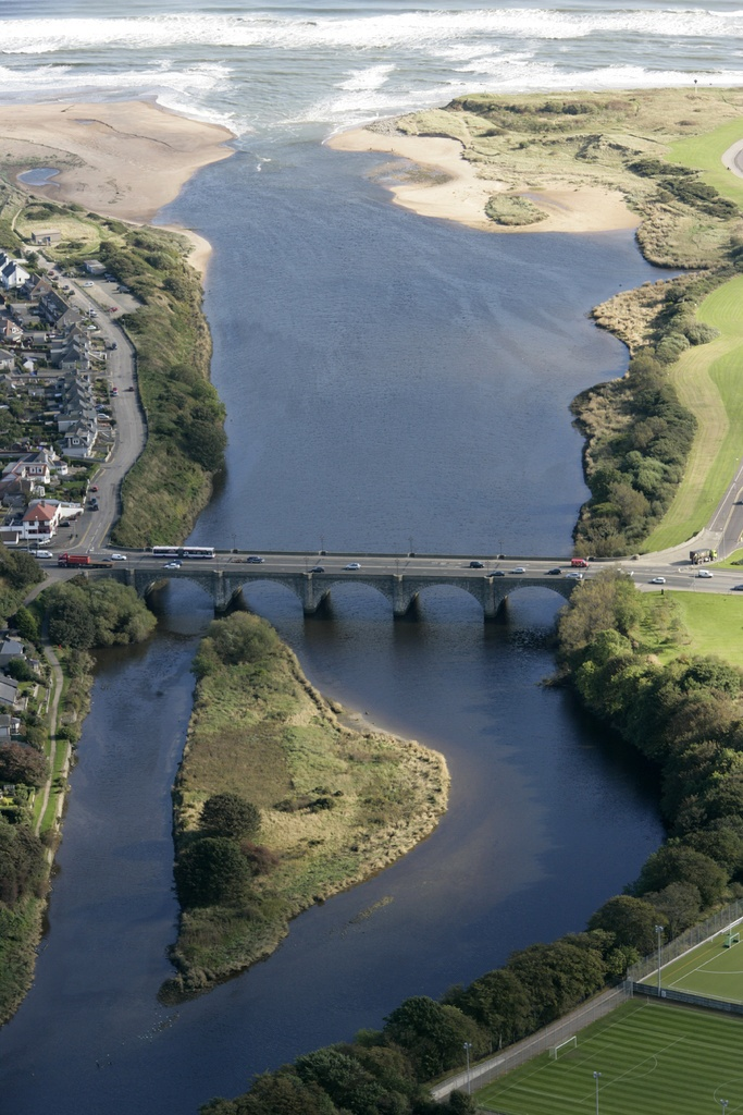Bridge of Don Aberdeen, Scotland. Driven over this bridge so many times. Never seen it from this angle before. Pretty cool considering you don't really realise you are going over a river when you're crossing
