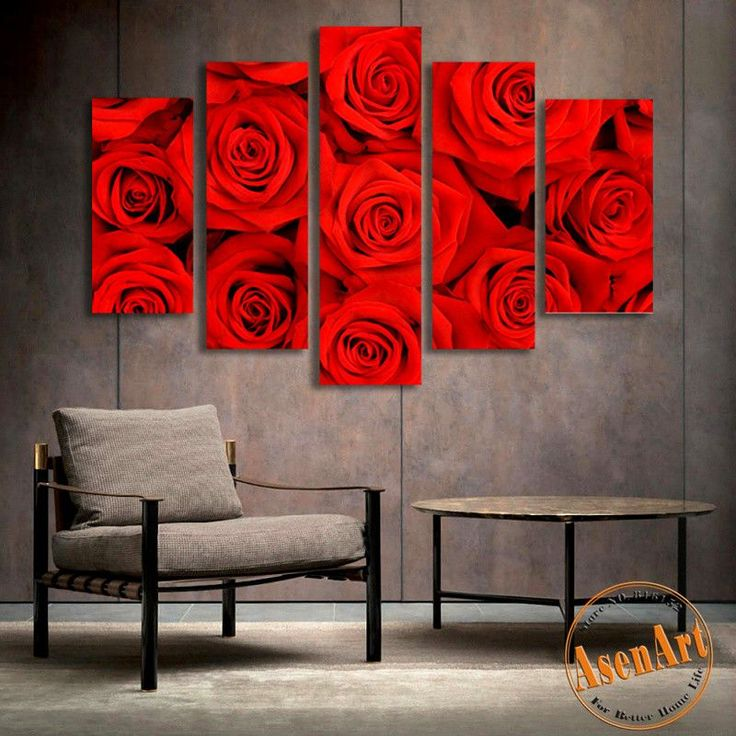 Modern red home decor