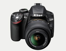 Different accessories and software available for Nikon D3200