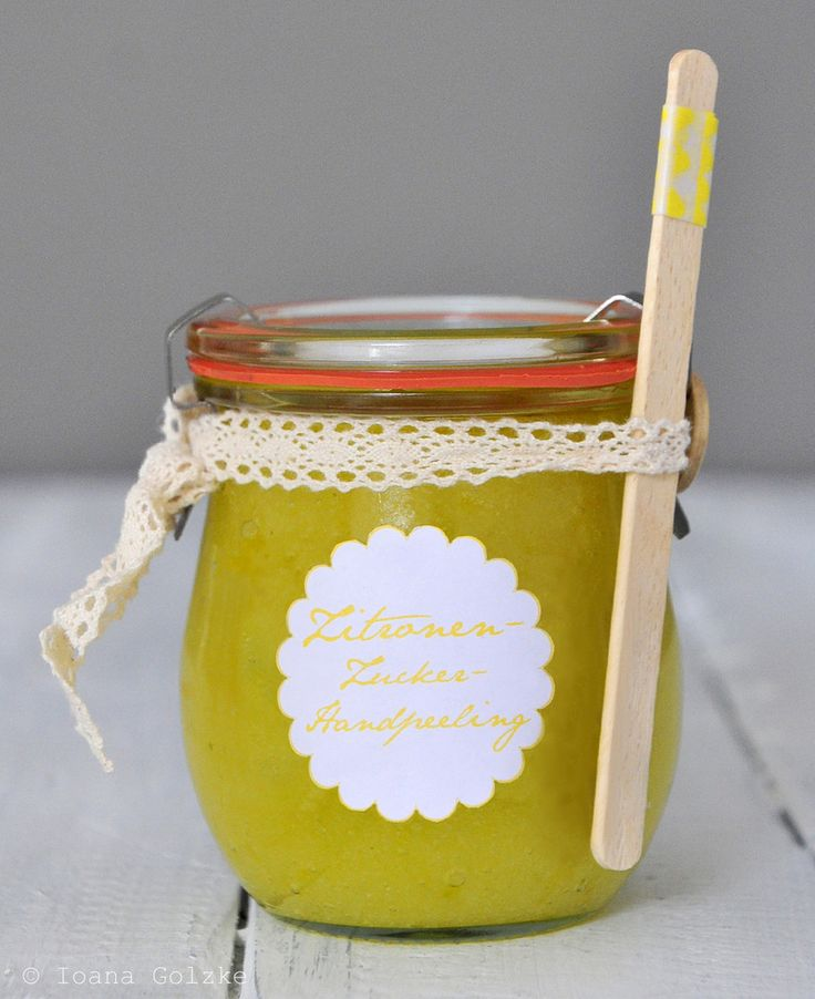 Muttertag Geschenk im Glas - Zitronen Zucker Handpeeling