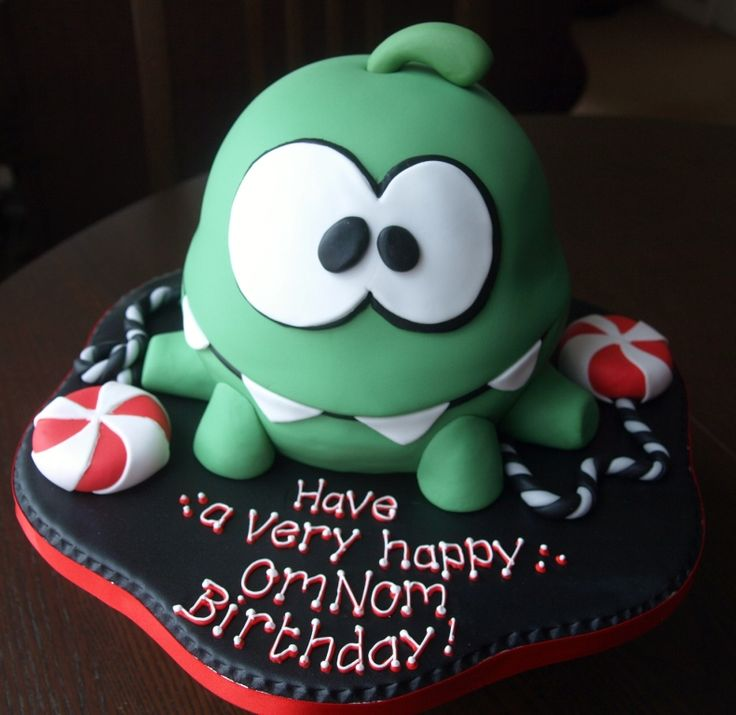 Cut the rope Om Nom birthday cake Bedford