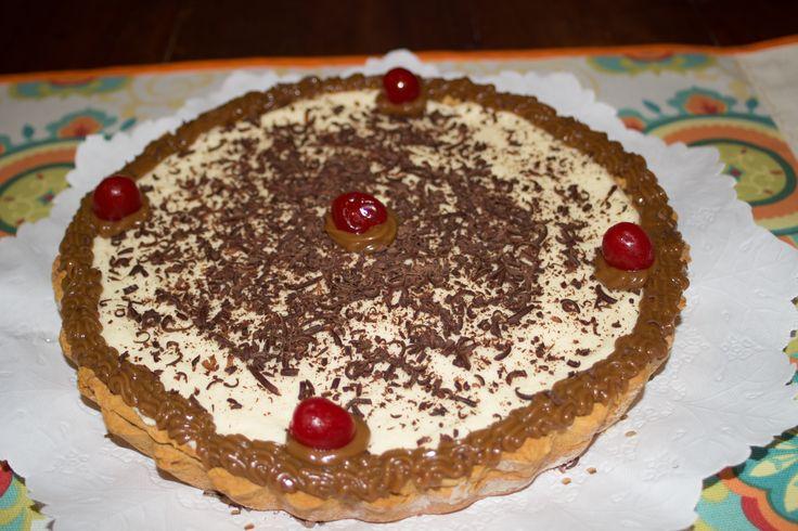 Tarta Mousse de dulce de leche con masa de dulce de leche