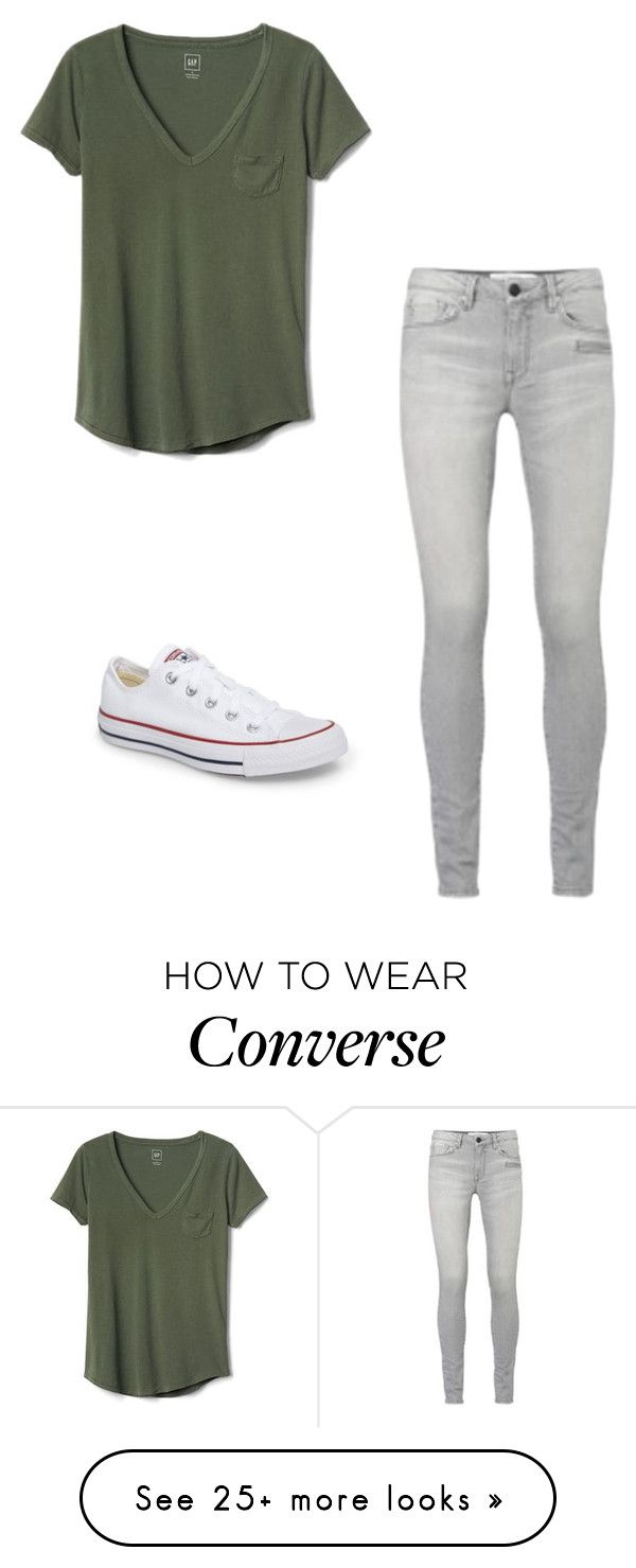 """Untitled"" by dancer0202 on Polyvore featuring Gap and Converse"