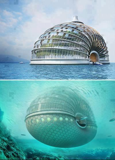 A brilliant design of a hotel at sea !!  Ark Hotel in china designed by Russian firm Remistudio !! What an engineering !!!  ♥Un excelente diseño de un hotel en el mar!!  Ark Hotel en china, diseñado por el ruso Remistudio!!    ¿Qué una ingeniería!!! (