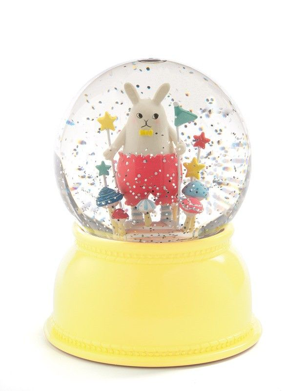 Want to gift something that will mesmerise past Easter's sugar high? Then look no further than this Djeco Night Light Snow Globe Little Rabbit! It features a colourful light that softly changes, plus an inside fan that circulates the glitter. LOVE!