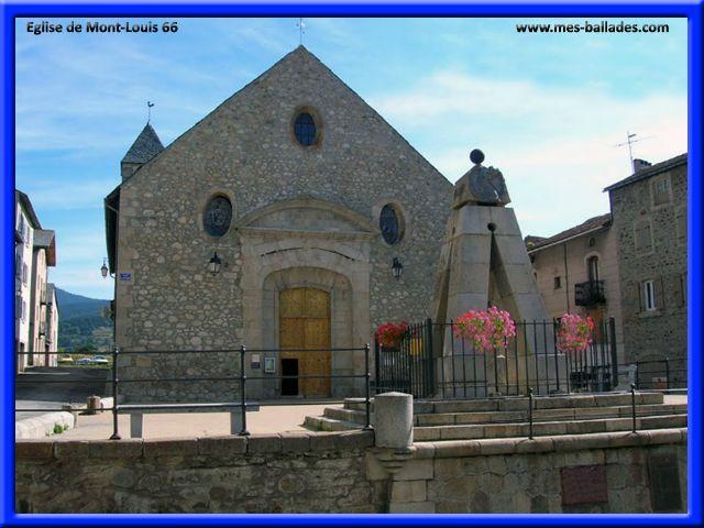 eglise de Mont-Louis . Pyrenees Orientales