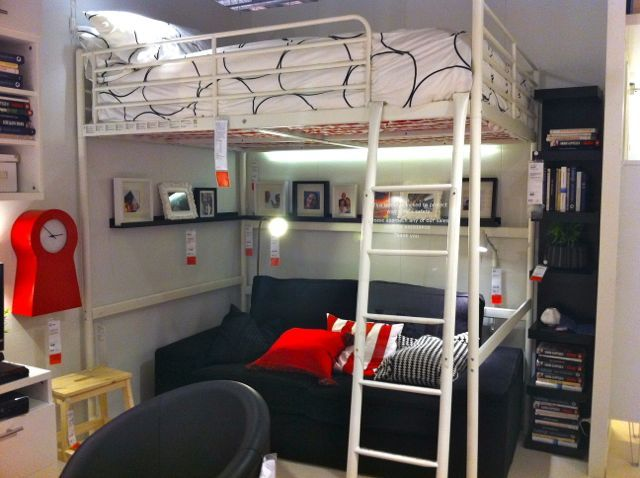 IKEA Loft Bed with Desk  Ikea Bunk: Ikea Loft Bed Ideas, Awesome Beds ...