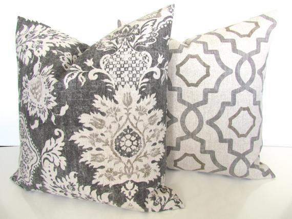 Gray Pillows Grey Throw Pillow Covers Tan Pillows Grey Decorative