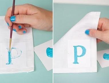 Como fazer guardanapos personalizados - 5 passos - umComo