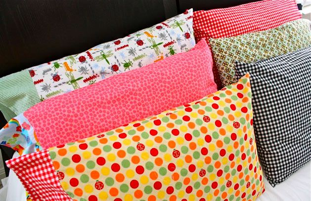Dana of MADE shares a pattern and how-to for making pillow cases from your stash fabrics to donate to the ConKerr Cancer organization. ConKerr delivers brightly-colored pillow cases to chroniclly i...