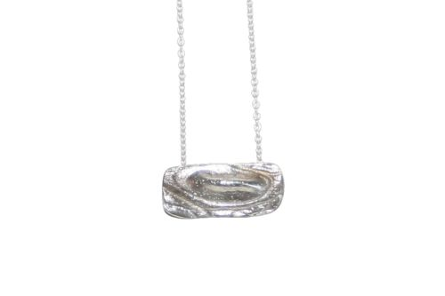 Nordic Croco Silver Necklace