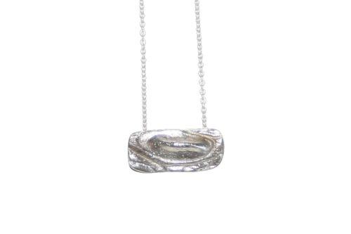 Nordic Croco Silver Necklace