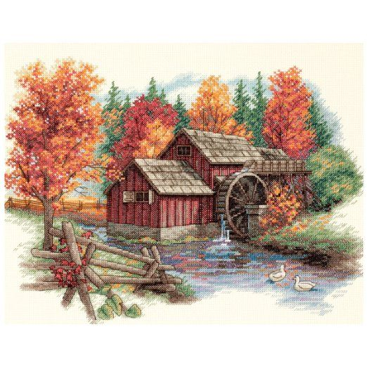 Glory Of Autumn. Counted Cross Stitch Kit-14X11 14 Count. Dimensions 35199.