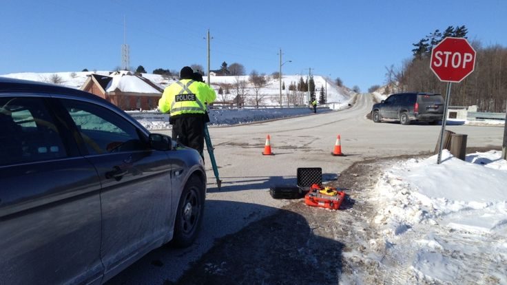 Crash scene in Bradford. Police seek witnesses to yesterday's crash in Bradford, Ontario.