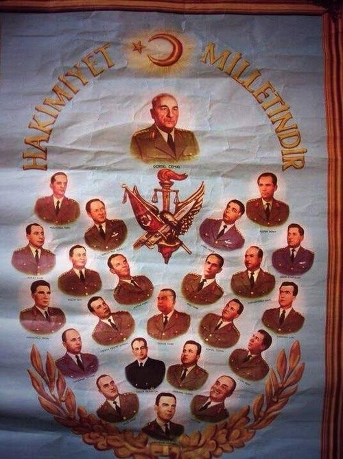 "27 Mayıs 1960 Darbesi sonrası yayınlanan ""Hakimiyet Milletindir "" propaganda posteri- immoraltales"
