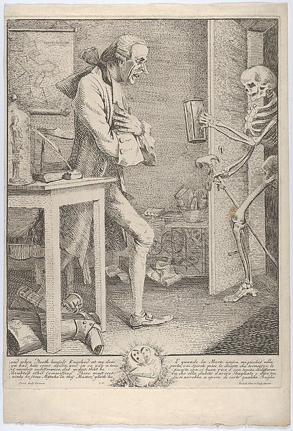 """Yo, dude--just returning this book I borrowed...""Thomas Patch (British, 1725–1782). Laurence Sterne, alias Tristram Shandy: ""And When Death Himself Knocked at My Door"", 1769. The Metropolitan Museum of Art, New York. A. Hyatt Mayor Purchase Fund, Marjorie Phelps Starr Bequest, 2013 (2013.939)"