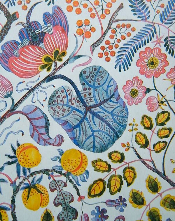 AM on The Present Tense: Josef Frank textile designs.